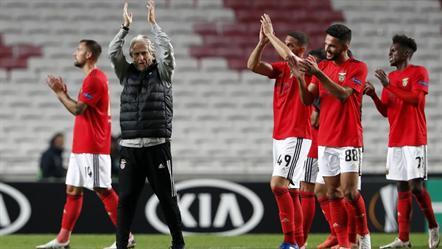 Benfica iguala recorde de invencibilidade em casa na Liga Europa
