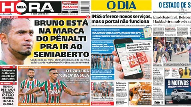 A BOLA BRASIL - Fluminense em destaque (capas de 5 de outubro ... 7a2214395ad19