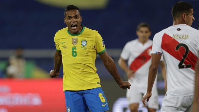 A BOLA – Everton starter in the rout of Brazil against Peru (Copa America)
