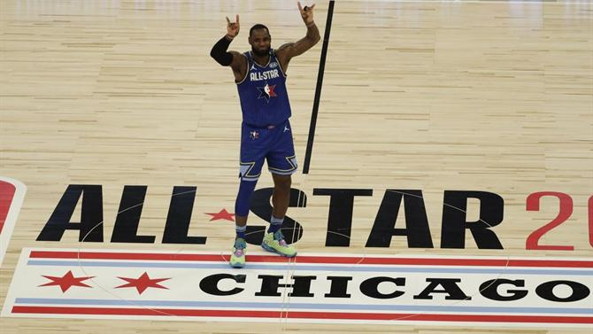 A BOLA Equipa de LeBron James vence «All Star Game» (NBA)