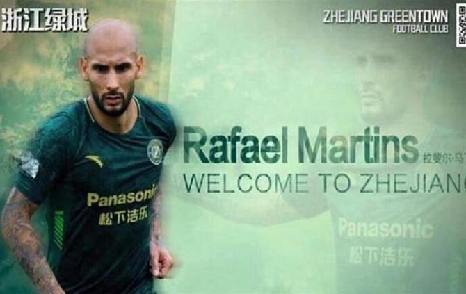 Rafael Martins anunciado na China