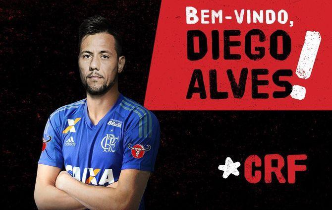 Diego Alves está de regresso ao futebol brasileiro (DR)