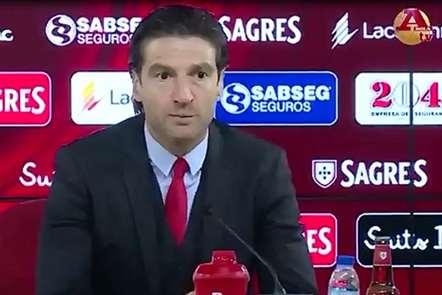 Jorge Simão considerou «dura» a vitória do Benfica