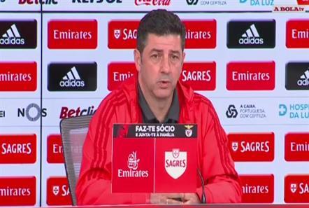 Rui Vitória considerou justo o triunfo sobre o SC Braga