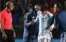 Messi com forte contusão óssea
