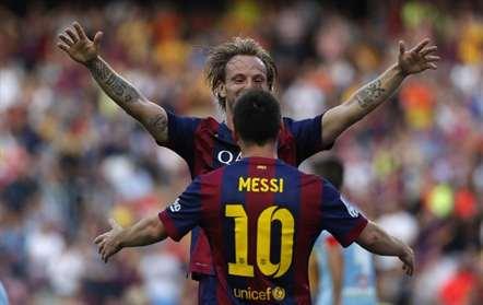Rakitic com Messi