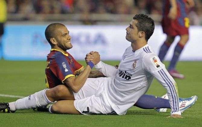 Daniel Alves e Cristiano Ronaldo