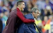 Ronaldo e Fernando Santos