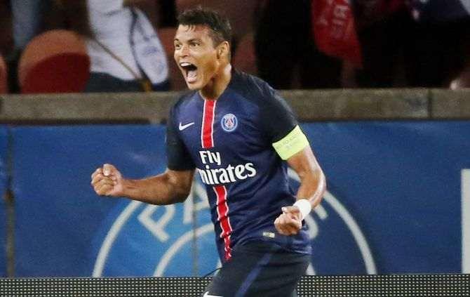 Thiago Silva marcou os dois golos do PSG
