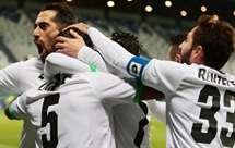 A festa dos jogadores do Cesena