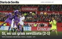 Sergio Ramos alvo de sátira pela imprensa andaluza: «Sim, é um grande 'sevillista'»