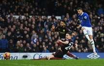 Mirallas marcou o segundo golo do Everton