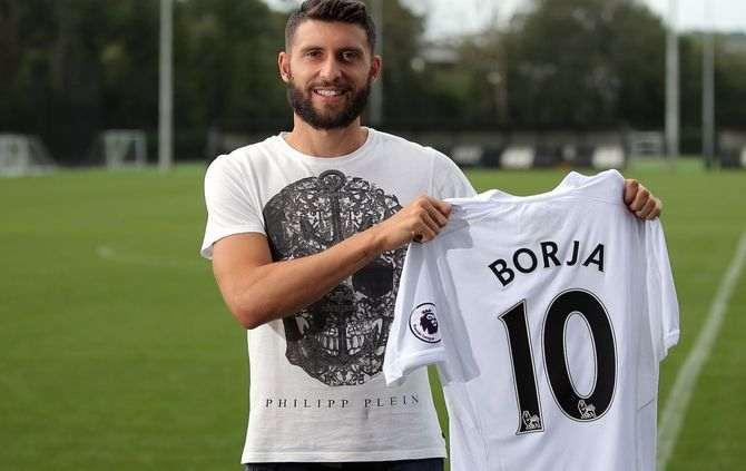 Borja Baston (Fotografia: Swansea City, site oficial: http://www.swanseacity.net/)