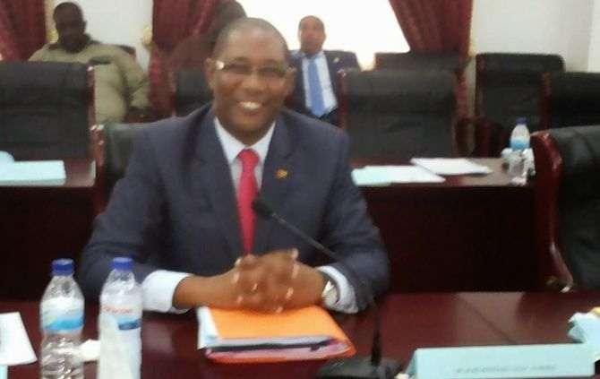 O ministro das Obras Públicas guineense, José António Almeida