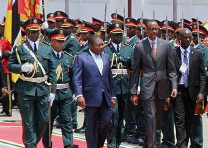 Paul Kagame, presidente do Ruanda, iniciou visita oficial de três dias
