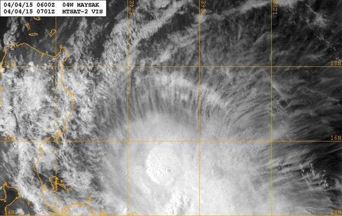 Tufão dirige-se para a cidade de Borongan, com rajadas de vento de até 185 km/h.