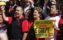 Dilma Rousseff  discursou este domingo em São Paulo (Foto AP)