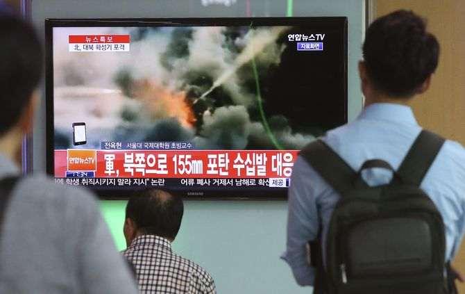 Seul dispara dezenas de obuses em resposta a possível ataque da Coreia do Norte