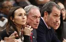 Michael Bloomberg, acompanhado da sua filha