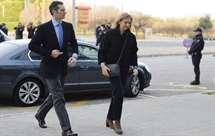Princesa Cristina acompanhada do seu marido, Iñaki Urdangarin