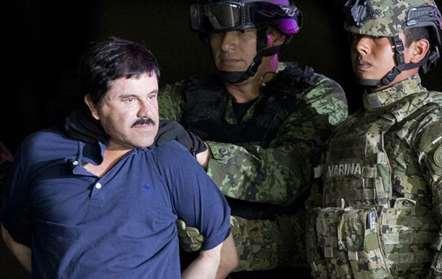El Chapo foi extraditado para os Estados Unidos