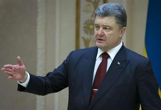 O presidente da Ucrânia, Petro Poroshenko (fotografia de arquivo)
