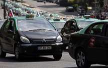 Protesto dos táxis em Lisboa (Foto: Armando França/AP)