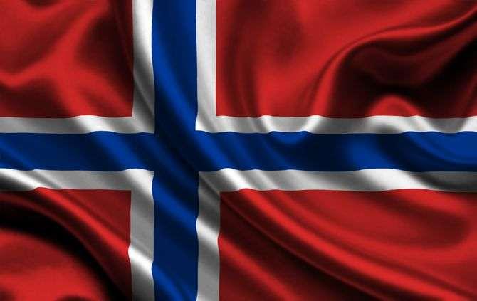 Bandeira da Noruega (fotografia de arquivo)