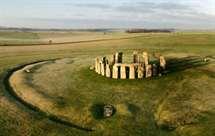 Stonehenge está localizado na planície de Salisbury, sul da Inglaterra