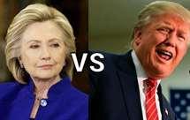 Hillary Clinton e Donald Trump (Foto justrivals.com)