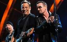 Bruce Springsteen e Bono (Foto consequenceofsound.net)