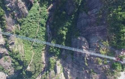 Ponte de cristal mais extensa do mundo estão concluída