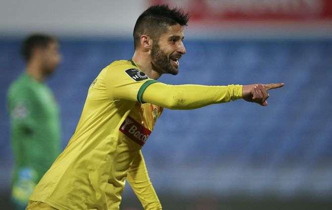 Bruno Moreira comemora único golo da partida