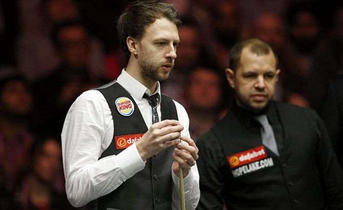Judd Trump e Barry Hawkins