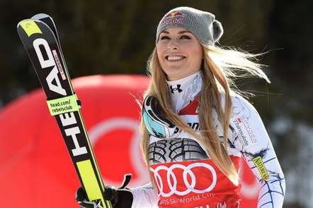 Lindsay Vonn, dos Estados Unidos, em Garmisch-Partenirchen, Alemanha. (Foto Christof Stache/AFP