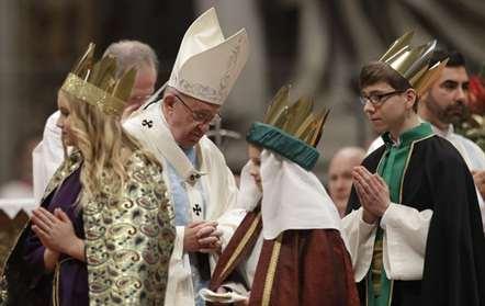 Papa Francisco durante a missa do Ano Nnovo na Basílica de São Pedro (Andrew Medichini/AP)