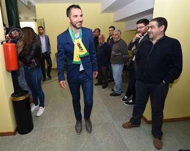 Carlos Pinto apresentado como novo treinador, no Estádio Capital do Móvel. (Helena Valente/ASF)