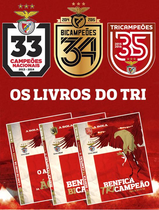Pack 3 livros Benfica Tricampeão