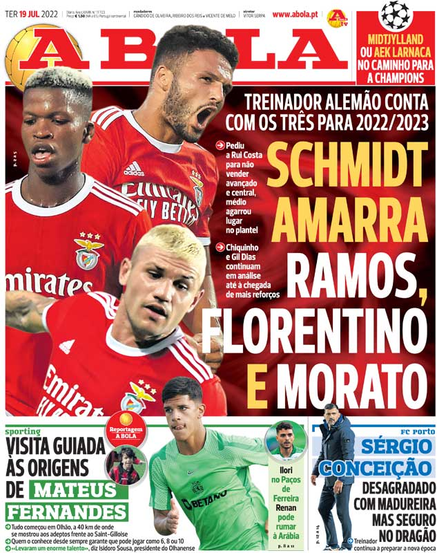 A Bola & O Jogo say Man United will land Marcos Rojo with Luis Nani set to join Sporting